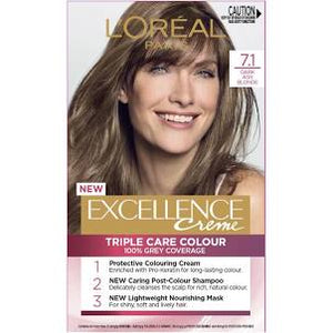 L'Oreal Excellence Creme Hair Colour 7.1 Dark Ash Blonde