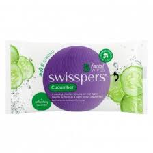 Swisspers PK25 Facial Wipes Cucumber Soft & Strong