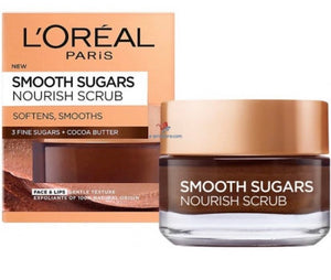 L'Oreal 50Ml Face Sugar Scrubs Nourishing Scrub With 3 Fine Sugars & Cocoa Butter
