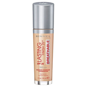 Rimmel London 30Ml Lasting Finish 25Hr Foundation 100 Ivory SPF20