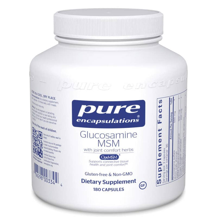 Glucosamine MSM with Joint Comfort 180 vegetarian capsules by Pure Encapsulations