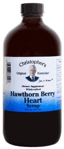 Nourish Hawthorn Berry Heart Syrup 4 oz by Christopher's Original Formulas