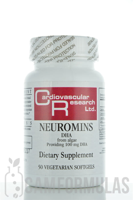Neuromins DHA 100 mg 50 vegetarian softgels by Ecological Formulas