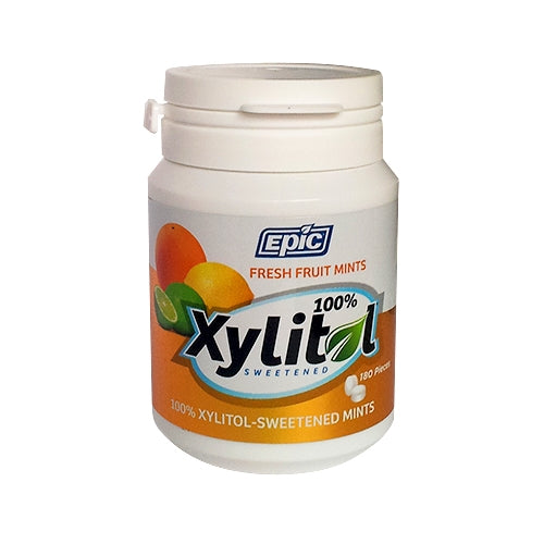 Xylitol Mints Fresh Fruit 180 Pieces by Epic