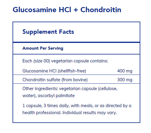 Glucosamine HCl Chondroitin 120 vegetarian capsules by Pure Encapsulations
