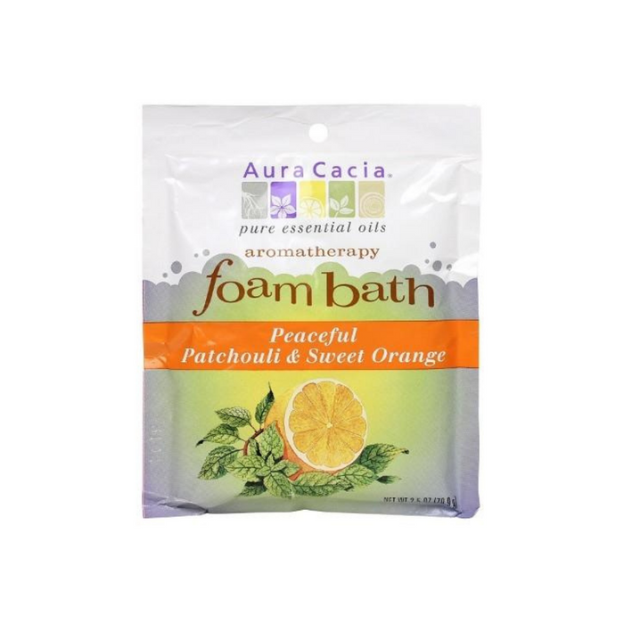 Bath Peaceful Patchouli & Sweet Orange Foam 2.5oz by Aura Cacia
