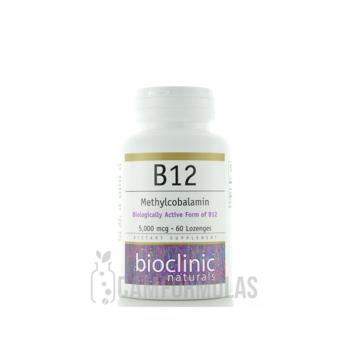 B12 Methylcobalamin 5000 mcg 60 lozenges by Bioclinic Naturals