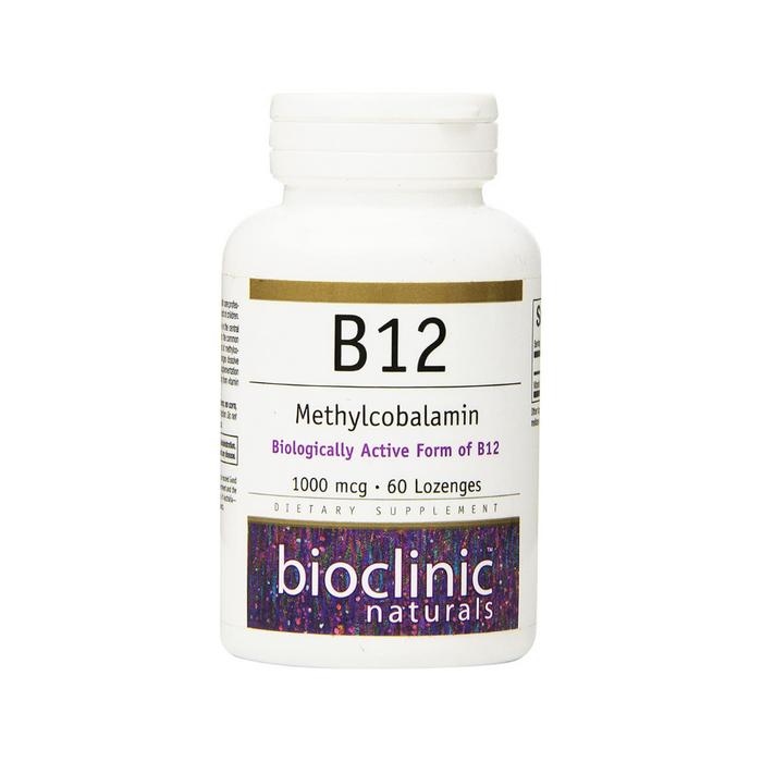B12 Methylcobalamin 1000 mcg 60 lozenges by Bioclinic Naturals
