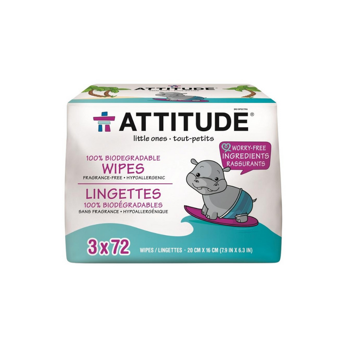 Eco Baby Wipes Tripack 3 Pieces by Attitude