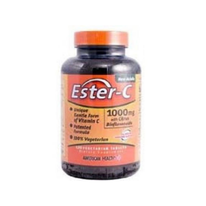 Ester-C with Bioflavonoids 1000mg 120 Vegetabs by American Health