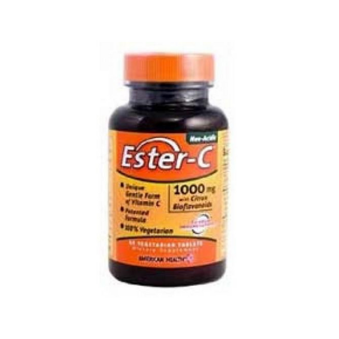 Ester-C with Bioflavonoids 1000mg 45 Vegetabs by American Health