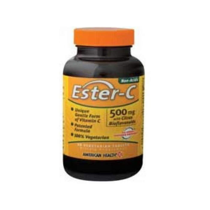 Ester-C with Bioflavonoids 500mg 90 Vegetabs by American Health