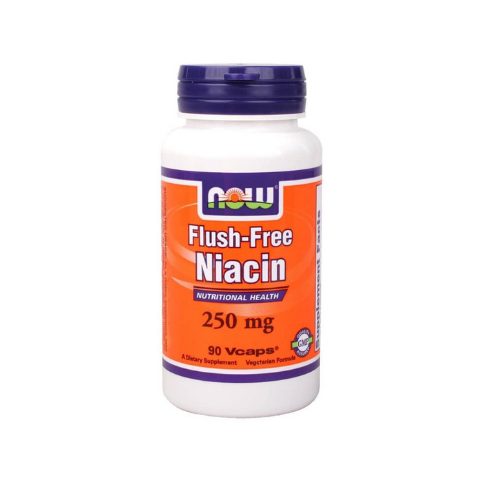 Flush-Free Niacin 250 mg 90 vegetarian capsules by NOW Foods