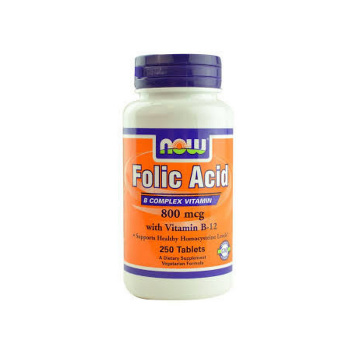 Folic Acid 800 mcg 250 tablets by NOW Foods