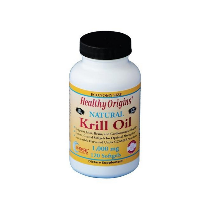 Krill Oil 1000mg 120 Softgels by Healthy Origins