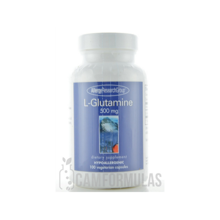L-Glutamine 500 mg 100 capsules by Allergy Research Group