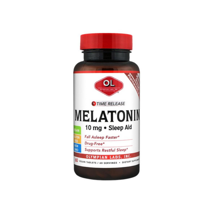 Melatonin 10mg Time Release 60 Tablets by Olympian Labs
