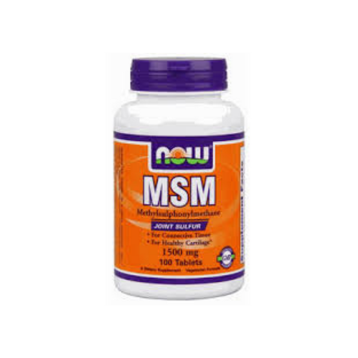 MSM 1500 mg 100 tablets by NOW Foods