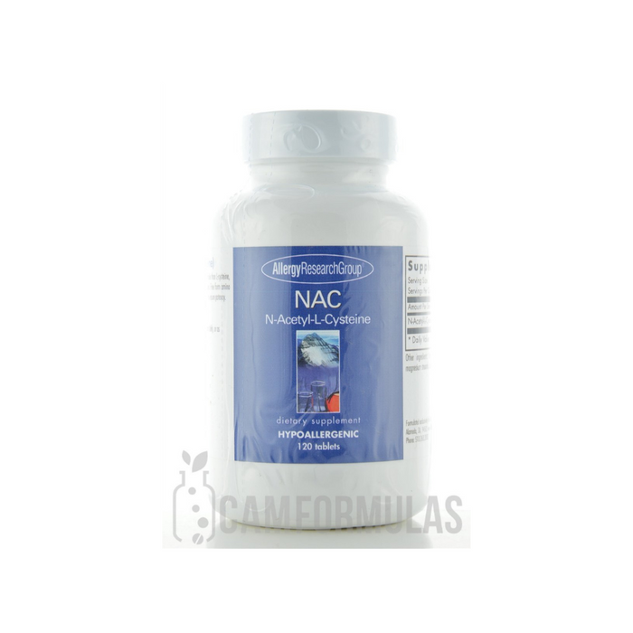 NAC N-Acetel-L-Cysteine 500 mg 120 tablets by Allergy Research Group