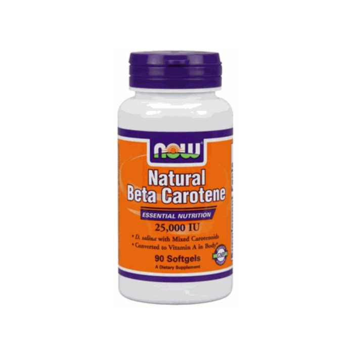 Natural Beta Carotene 25,000 IU 90 softgels by NOW Foods
