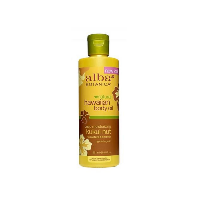 Kukui Nut Massage Oil 8.5 Oz by Alba Botanica