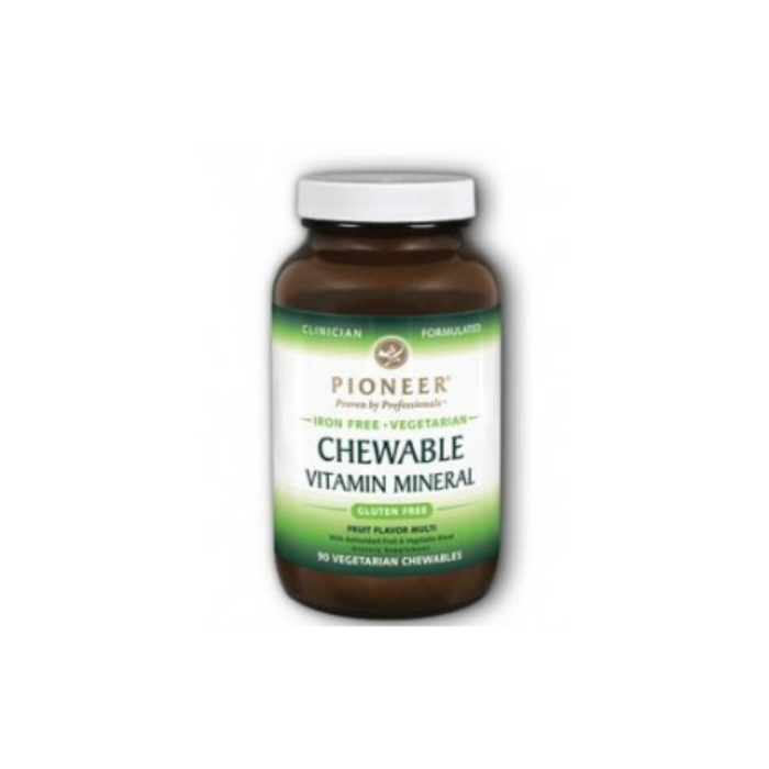 Chewable VM Fruit Iron-Free 90 chewables by Pioneer