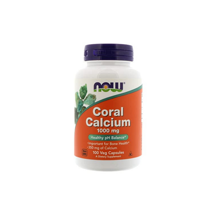 Coral Calcium 1000 mg 100 vegetarian capsules by NOW Foods