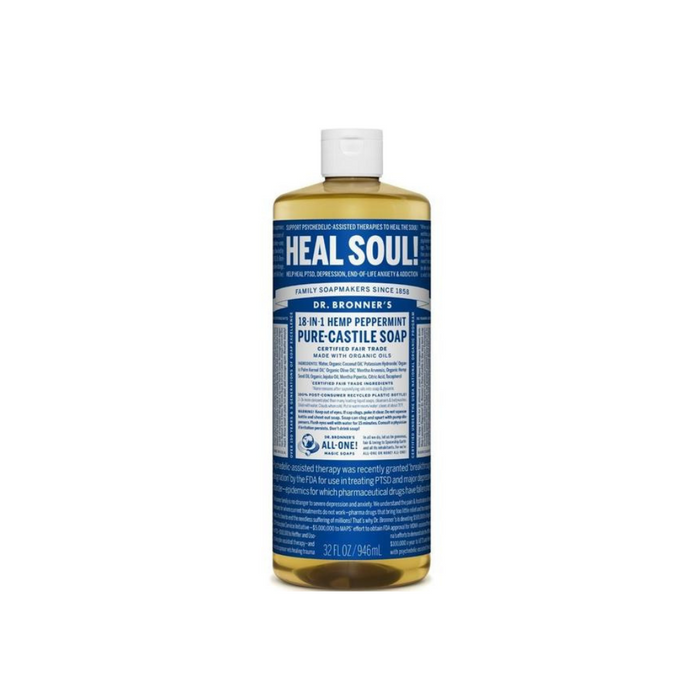 Organic Castile Liquid Soap Peppermint 4 oz by Dr. Bronner's Magic Soaps