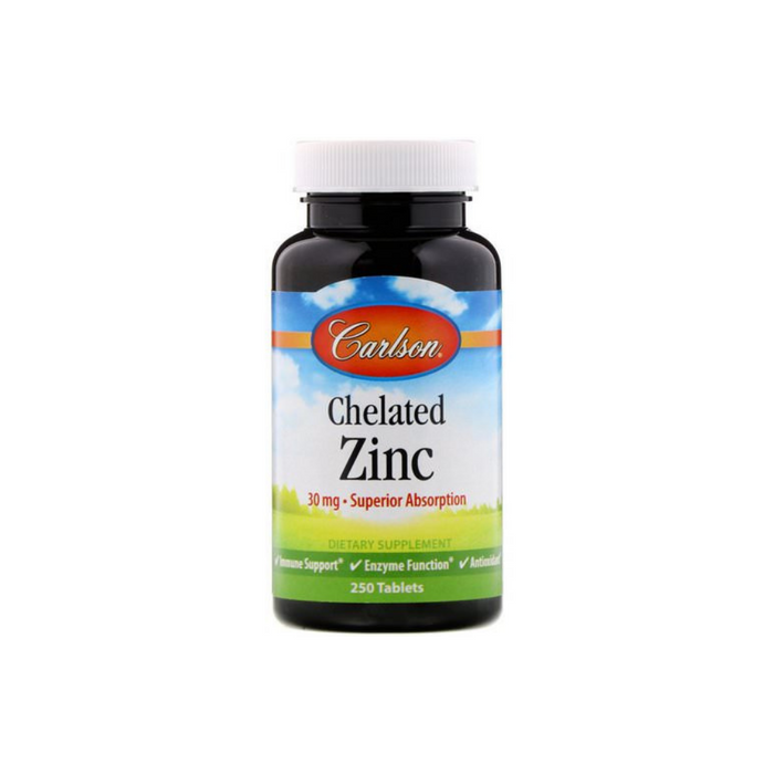 Chelated Zinc 250 tablets by Carlson Labs