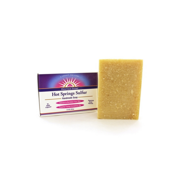 Hot Springs Sulfur Soap  3.5 Ounces by Heritage