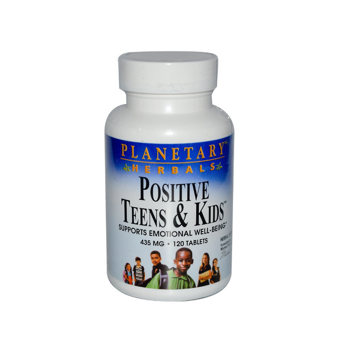 Positive Teens & Kids 435mg 60 Tablets by Planetary Herbals