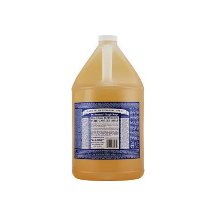 Organic Castile Liquid Soap Peppermint 1 Gallon by Dr. Bronner's Magic Soaps