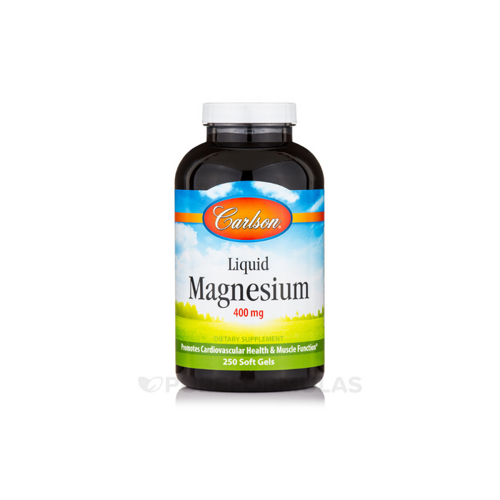 Liquid Magnesium 400 mg 250 softgels by Carlson Labs