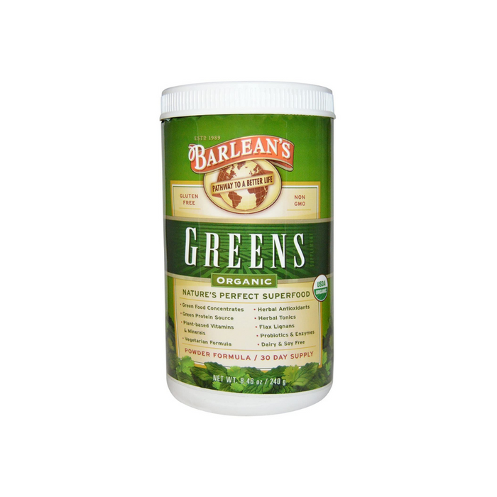 Greens Powder 8.46 oz by Barlean's Organic Oils
