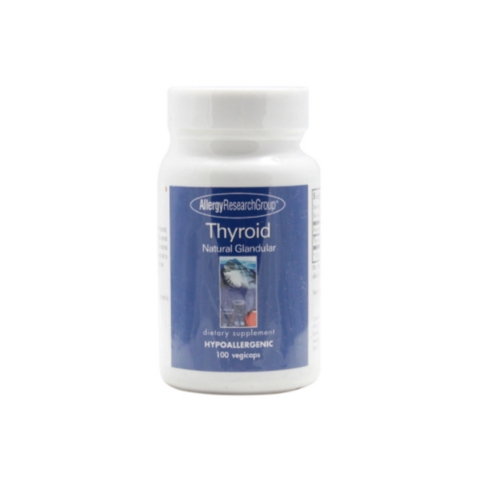 Thyroid Natural Glandular 100 vegetarian capsules by Allergy Research Group