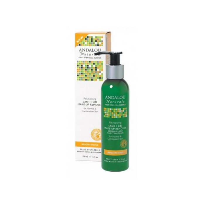 Brightening Lash + Lid Make-Up Remover 6oz by Andalou Naturals