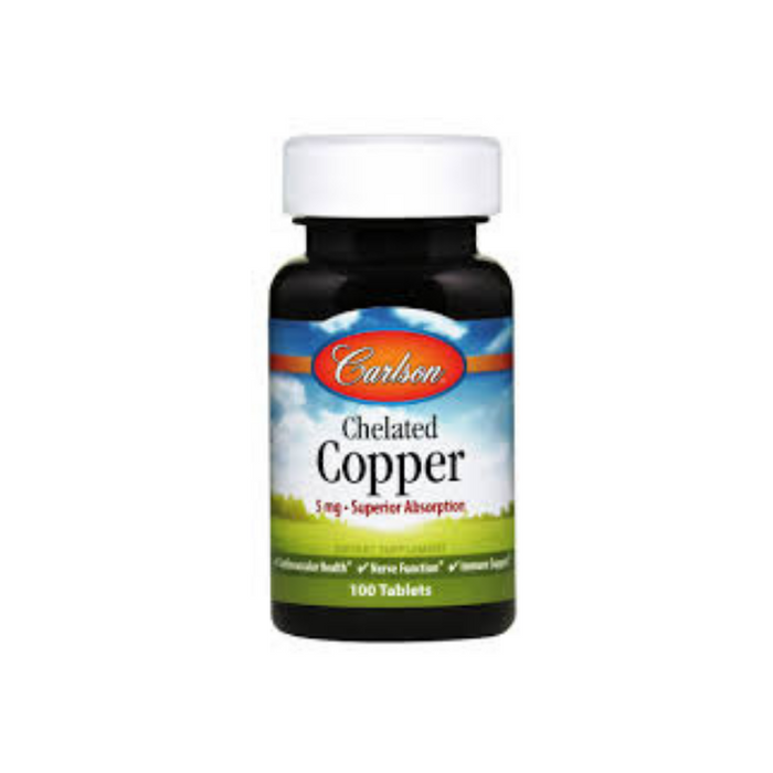 Chelated Copper 100 tablets by Carlson Labs