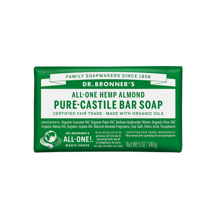 Organic Castile Bar Soap Almond 5 oz by Dr. Bronner's Magic Soaps