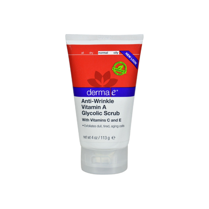 Anti-Wrinkle Vitamin A Glycolic Scrub 4 oz by DermaE Natural Bodycare
