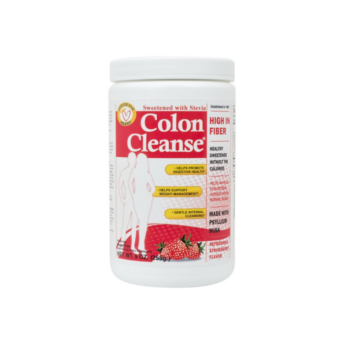 Colon Cleanse All Natural Sweetener Strawberry-Stevia Powder 9 oz by Health Plus