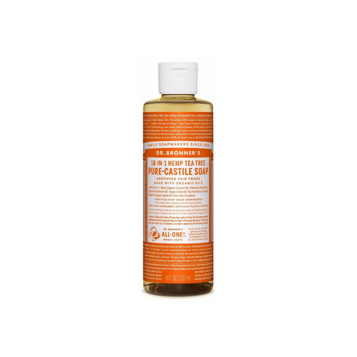 Organic Castile Liquid Soap Tea Tree 8 oz by Dr. Bronner's Magic Soaps