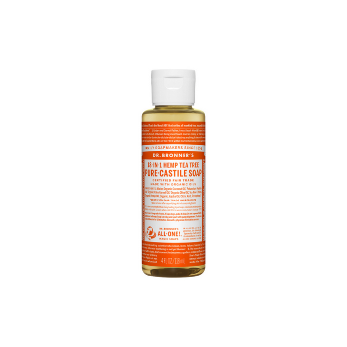 Organic Castile Liquid Soap Tea Tree 4 oz by Dr. Bronner's Magic Soaps