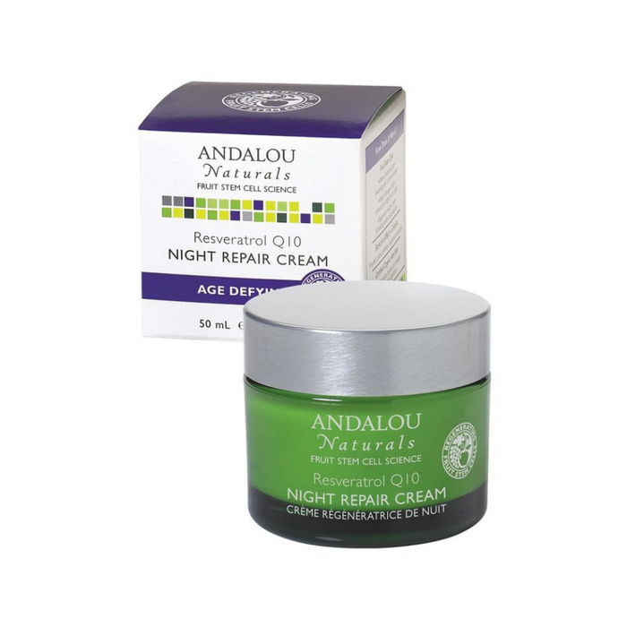 Age Defy Resveratrol Q10 Night Repair Cream 1.7oz by Andalou Naturals