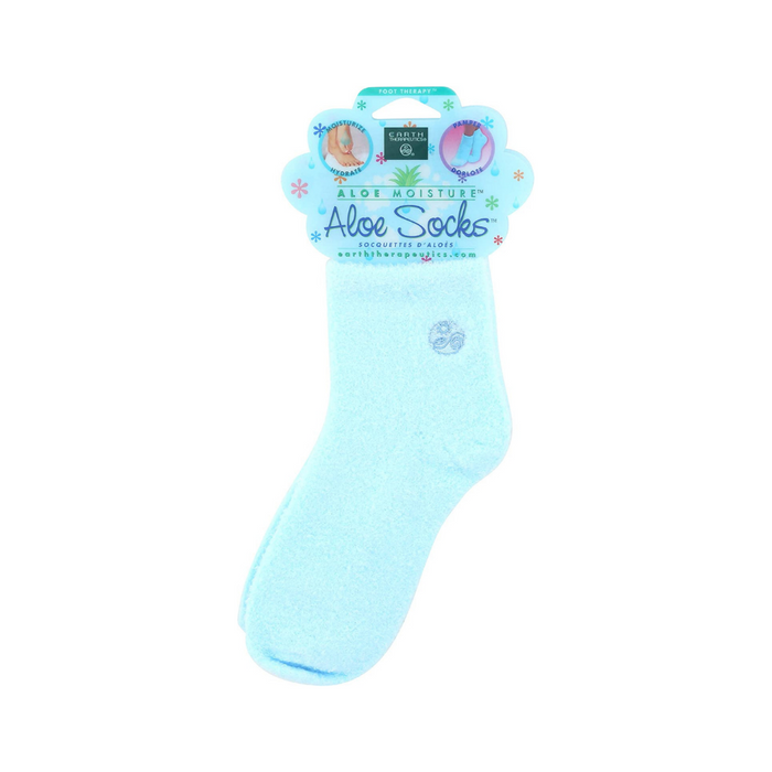 Aloe Infused Socks Blue 1 Pair by Earth Therapeutics