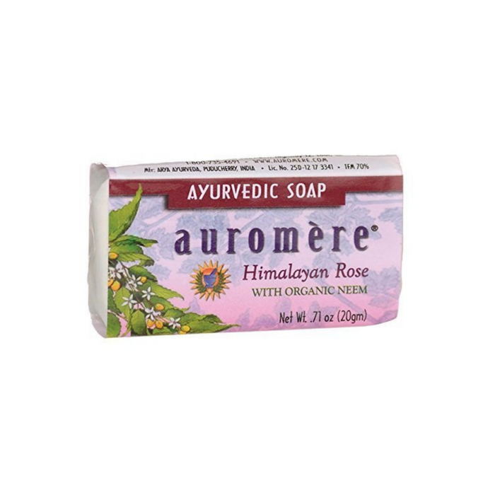 Ayurvedic Bar Soap Himalayan Rose 0.71 oz by Auromere