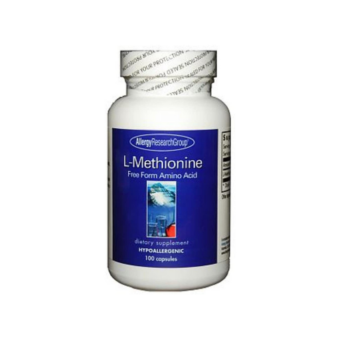L-Methionine 500 mg 100 vegetarian capsules by Allergy Research Group