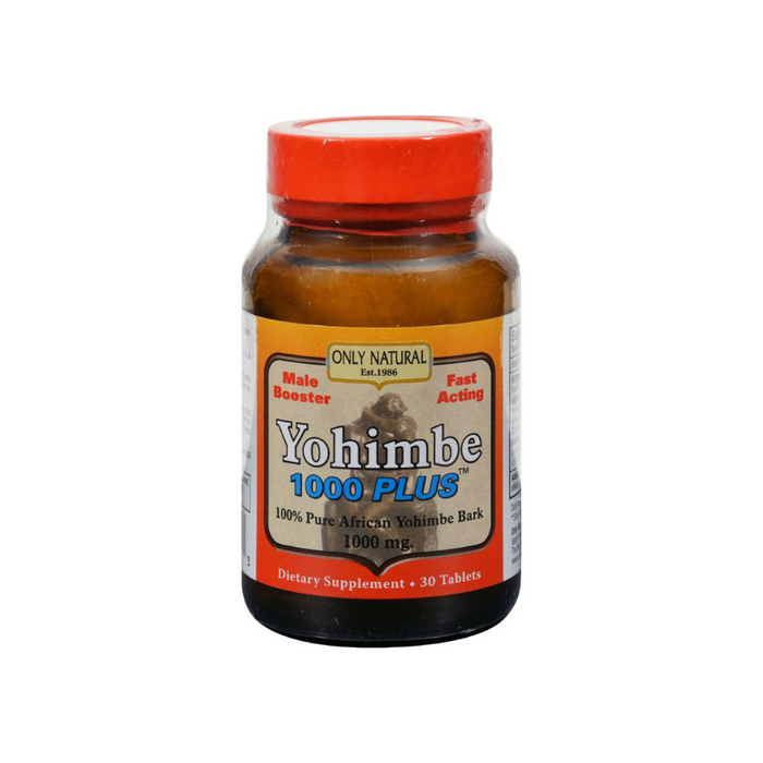 Yohimbe 1000 Plus 30 Tablets by Only Natural