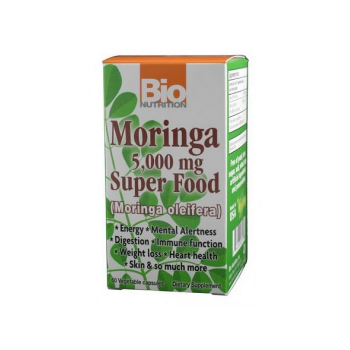 Moringa 5000mg Super Food 60 Vegetarian Capsules by Bio Nutrition