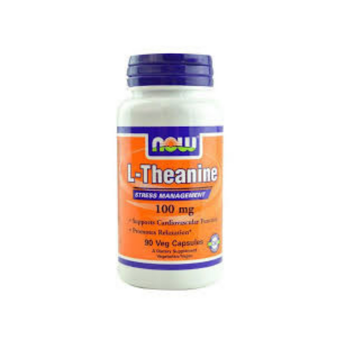 L-Theanine 100 mg 90 vegetarian capsules by NOW Foods