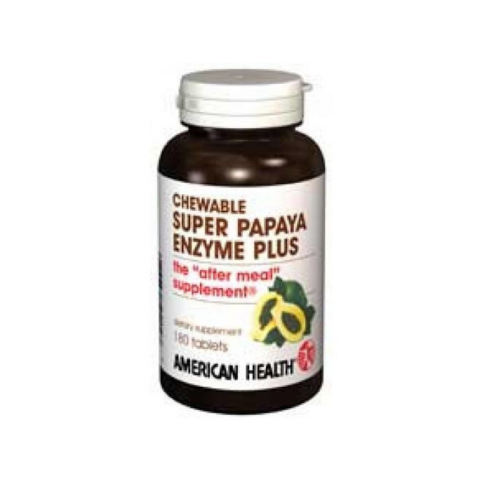 Enzyme Super Papaya+ 180 Tabs by American Health